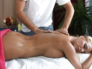 hot breasty blonde milf getting a great massage