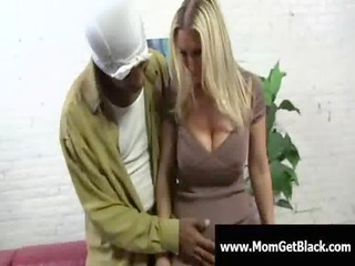 horny big tit mamma receive black cock for her