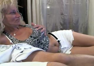 blonde mature retro porn teasing at webcam