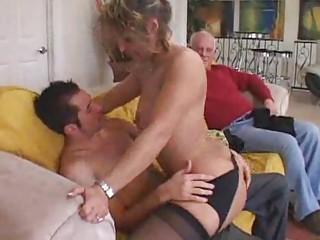mature cougar attacks youthful man