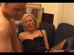 casting french blond mature housewife