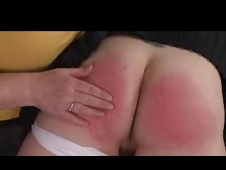 domme granny spanks girl over her knee