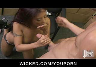 hot oriental playgirl secretary fucks