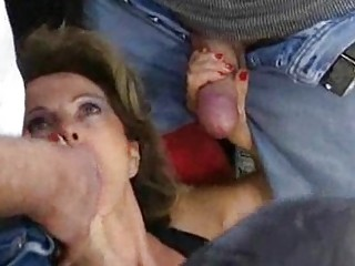 german older housewife gets loads of cum on face