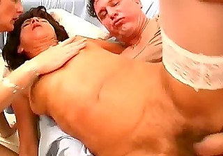 1 amateur older wives share one weenie with facial