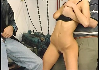 mechanic fucks wife in front of her husband -