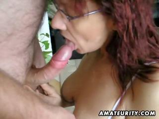 hot amateur mature whore sucks and bonks with