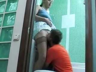 boy found his neighbors wife in bathroom all alone