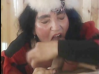 mature big titted hirsute brute runs the fuckshow