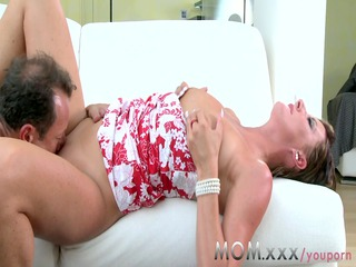 mom hot mature lady fucks deeply with excitement