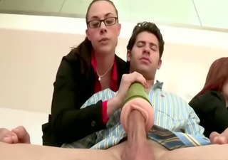 cfnm business milfs wanking colleagues