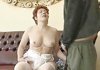 granny in white stockings bonks