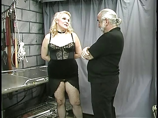 mature fat serf nipp clamped and teased