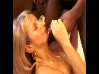 resigned blond wife takes multiples cocks and so