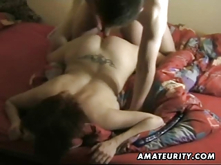 breasty amateur wife sucks and fucks with cumshot