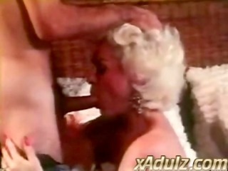 retro grey haired granny gives carnal deepthroat