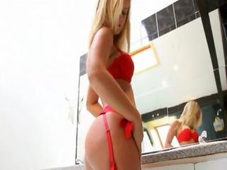 my wife in bathroom masturbating