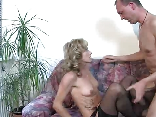 hawt german older fucked on the couch