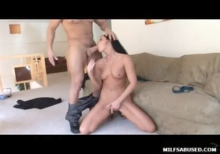 black haired milf playgirl with miniature tits